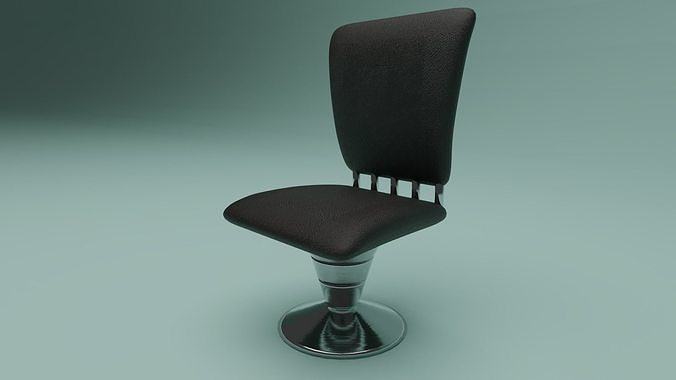 Leather Chair with Chrome base