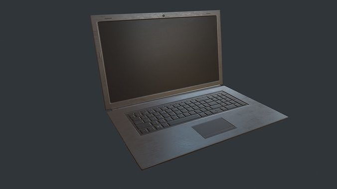 Laptop PBR Game Ready Model Low-poly 3D