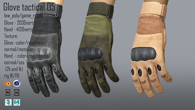 FPS hand glove tactical 05