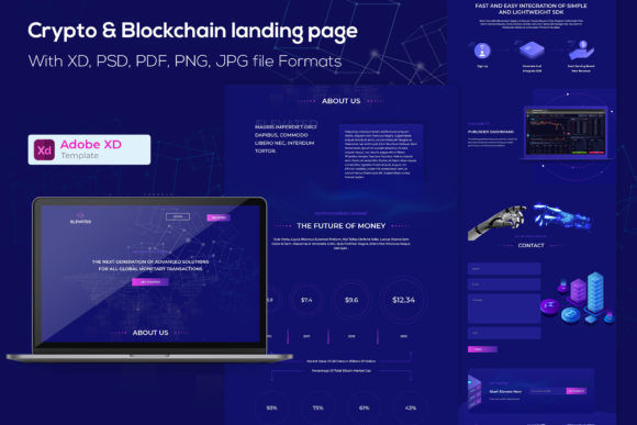 Crypto and  Blockchain Agency Landing Page