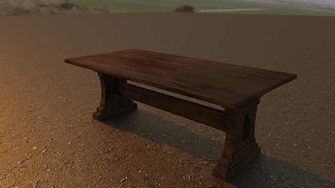 Detailed Low Poly Game-Ready Table