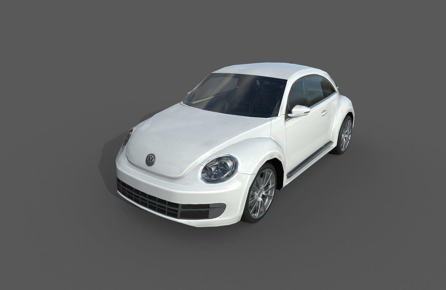 Low Poly Car - Volkswagen Beetle 2012