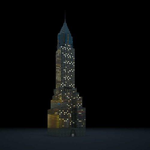 tall lightenin skyscraper 3d model obj mtl 1
