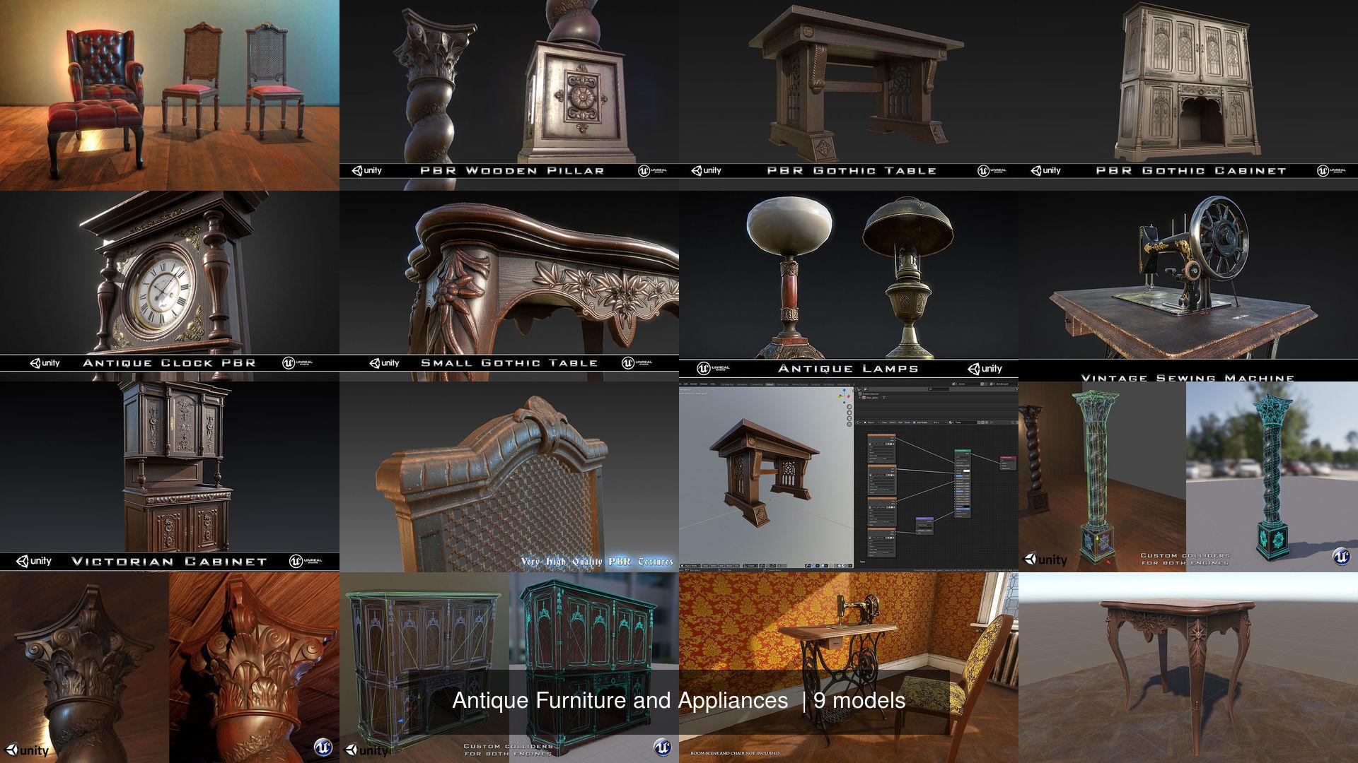 Antique Furniture and Appliances