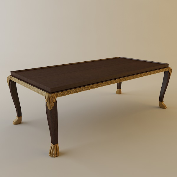 ornate coffee table 3d model max obj 3ds fbx. Black Bedroom Furniture Sets. Home Design Ideas