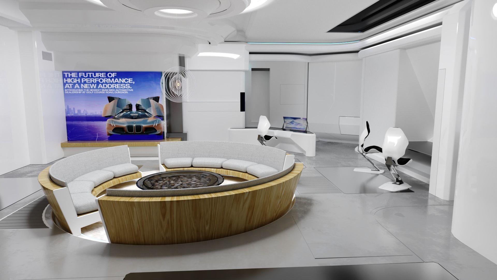 Modular SCI-FI Interior Serie B Rest Room