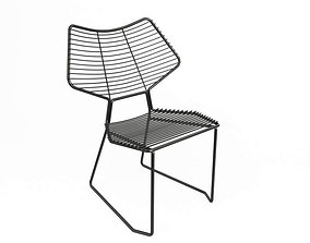 3D Modern Metallic Chair Casamania