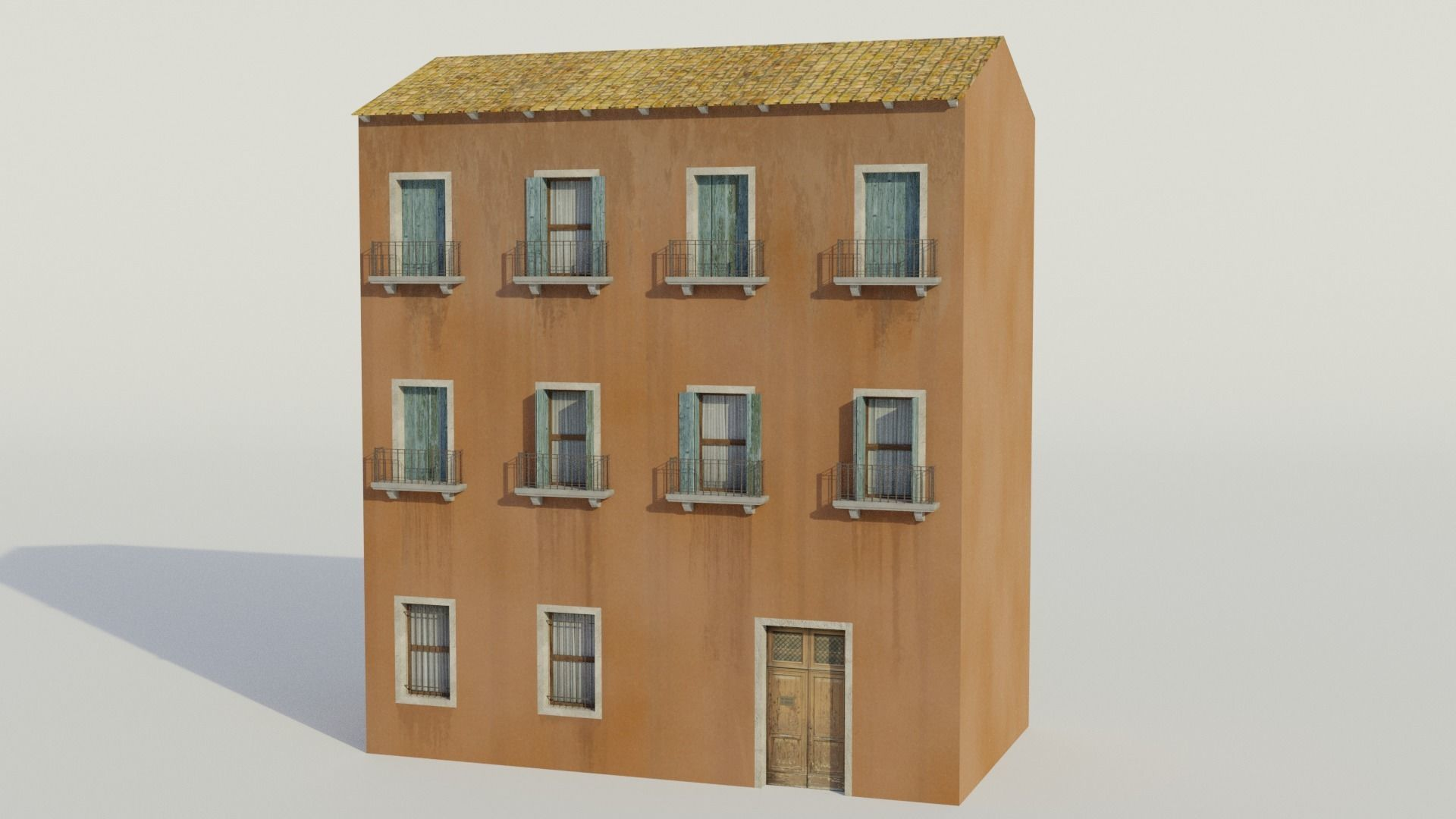 Apartment Building - Low-poly PBR