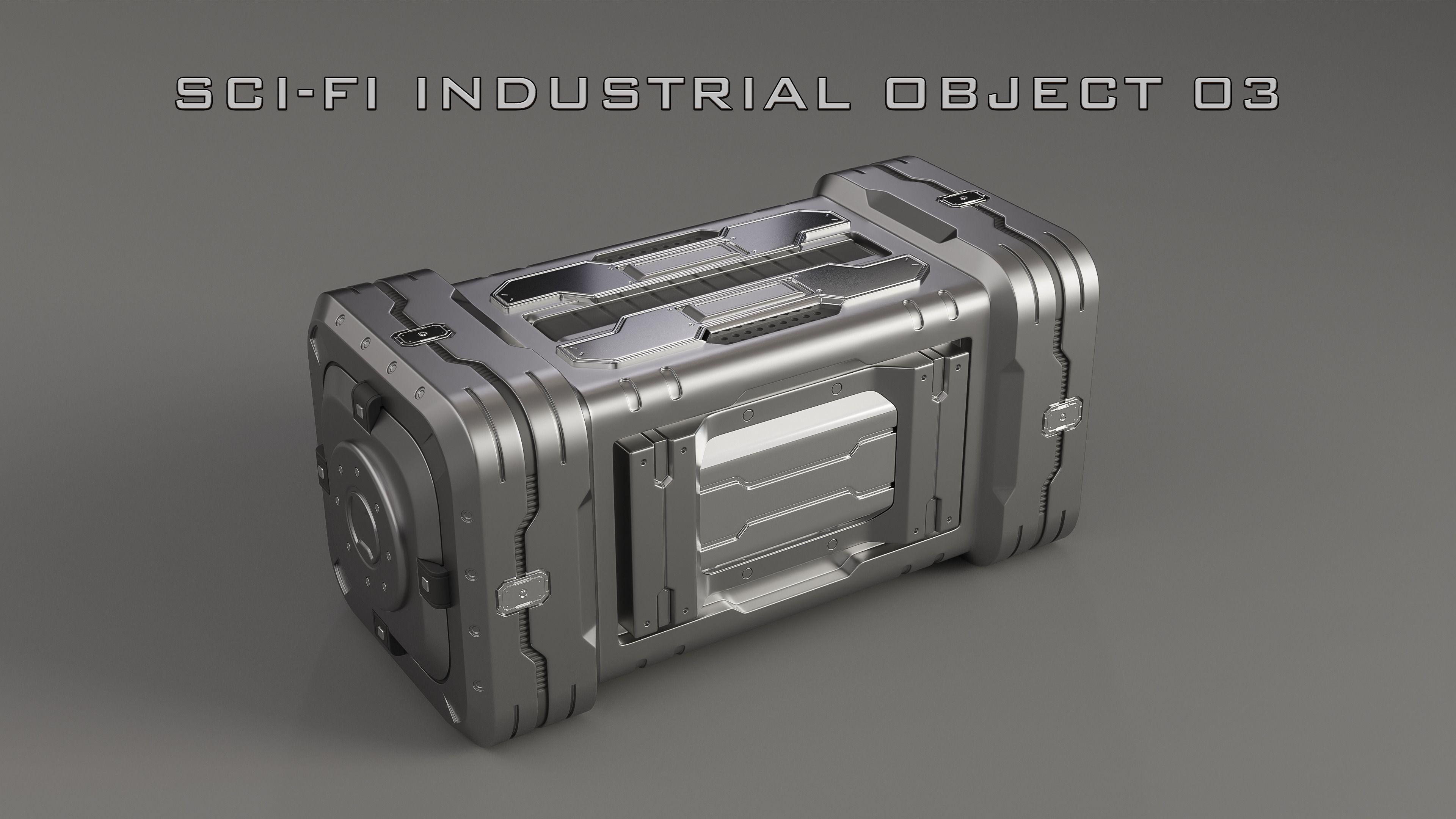 Sci-Fi Industrial Object 03