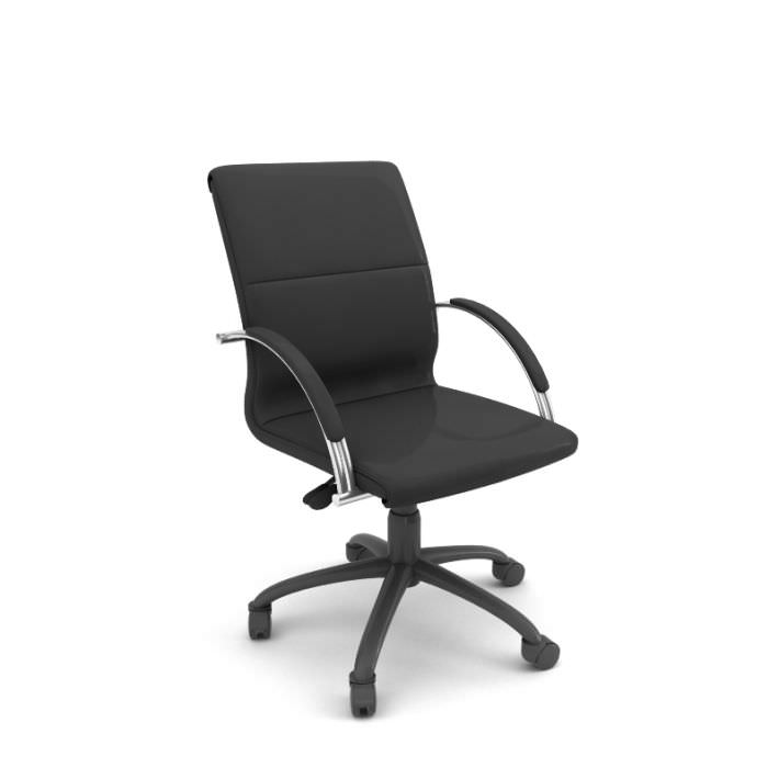 Professional Rolling Office Chair 3d Model Obj 1