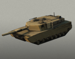 M1 Abram tank 3D model