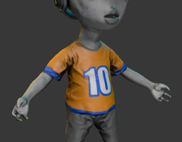 3d model alien kid realtime
