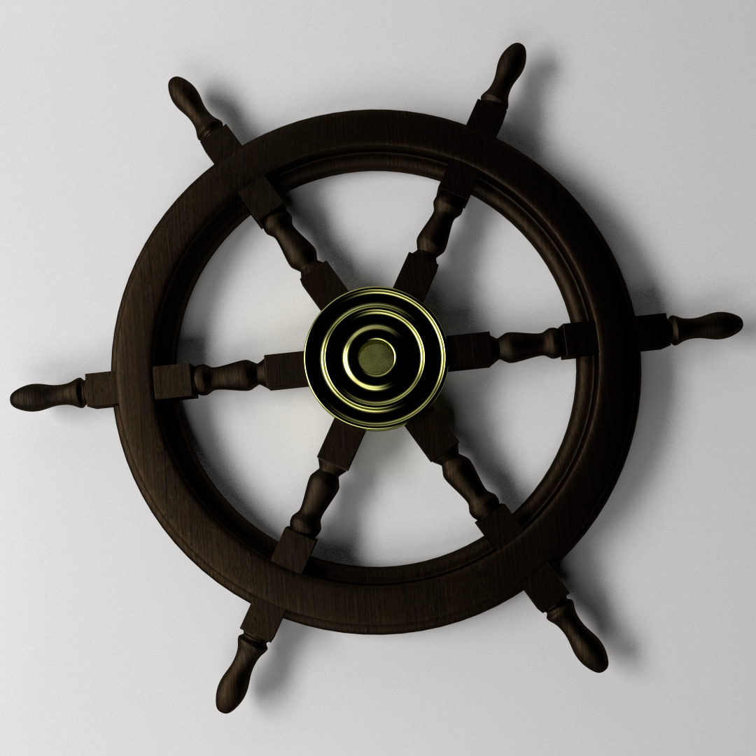 3d model ships steering wheel 2 cgtrader