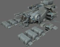 3D asset Mining Ship MS