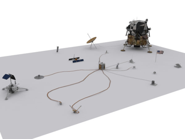 ALSEP and Lunar Module