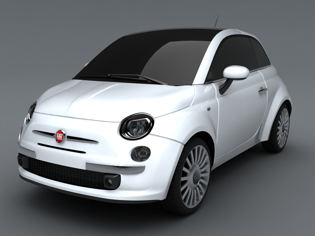 fiat 500 3d model max obj 3ds. Black Bedroom Furniture Sets. Home Design Ideas