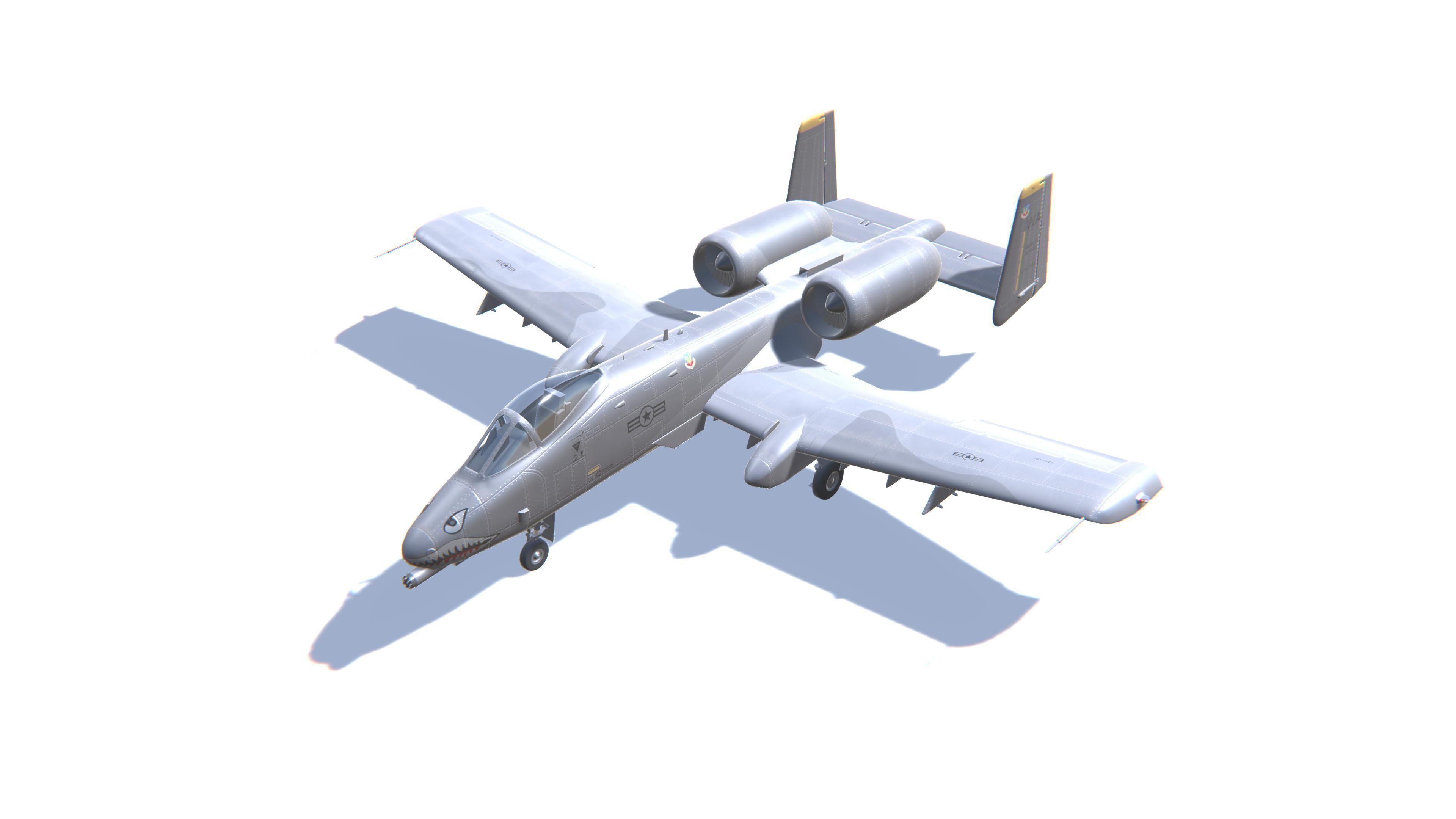 A-10 Thunderbolt Jet Fighter Aircraft