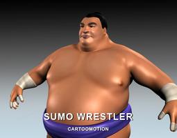 sumo wrestler 3d model VR / AR ready