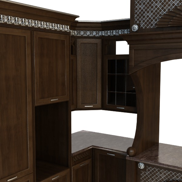Kitchen Cabinets Counters 3d Model Max 3ds Fbx