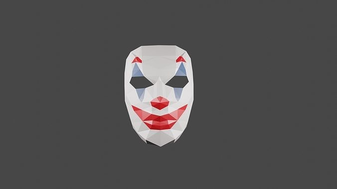 diy joker mask papercraft template