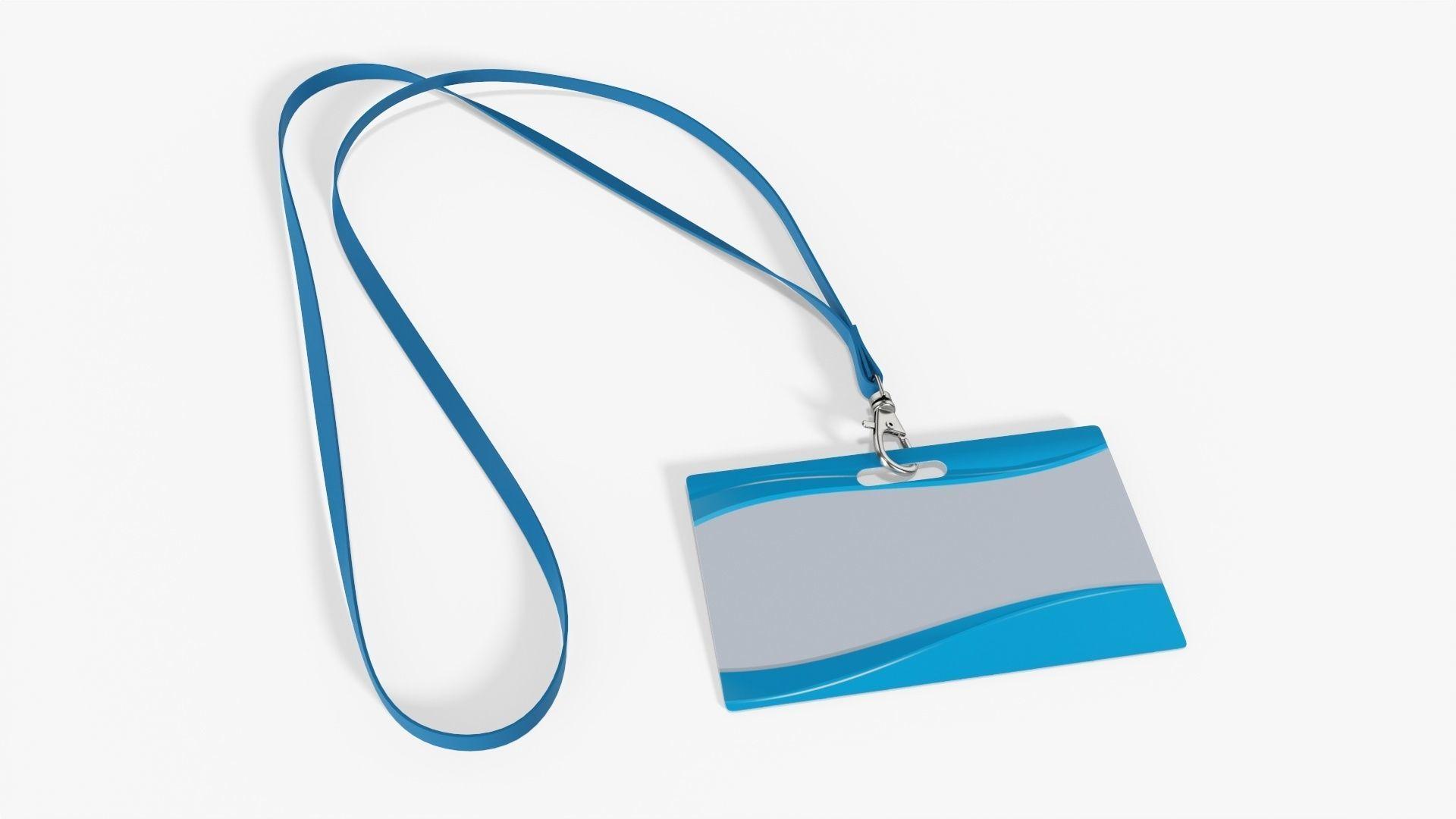 Narrow identity card on strap