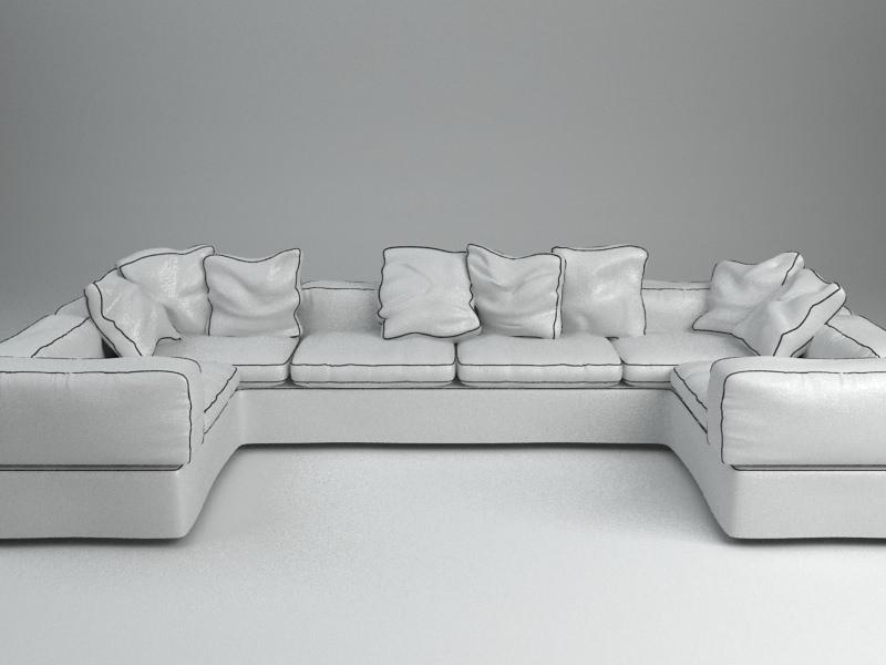 White Corner Sofa Model