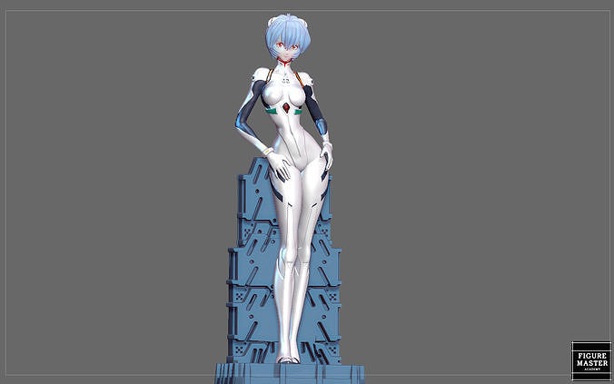 REI AYANAMI PLUG SUIT EVANGELION ANIME CHARACTER PRETTY GIRL