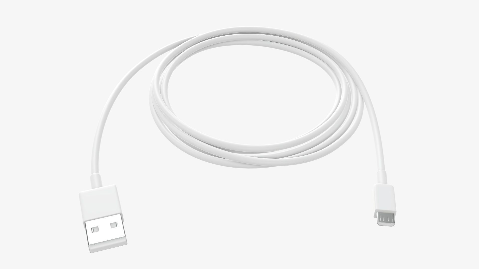Cable micro-USB to USB white