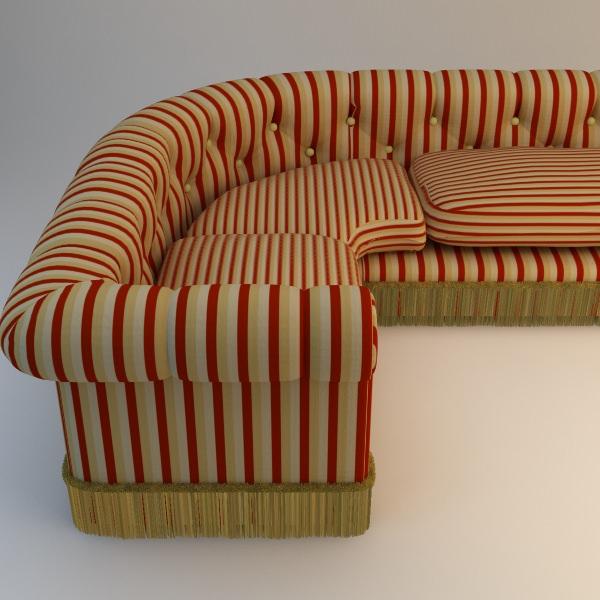 Charmant ... Striped Corner Sofa 3d Model Max Obj Fbx Mtl 2 ...