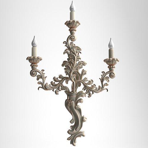candelabrum sconce light 3d model max obj mtl 3ds fbx 1