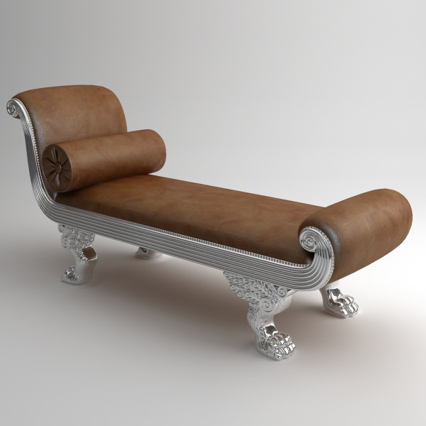 Chaise bench andrea fanfani 3d model max obj 3ds fbx for Chaise modele