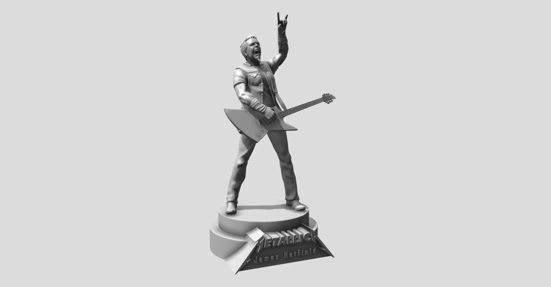 James Hetfield Metallica - 3d printing