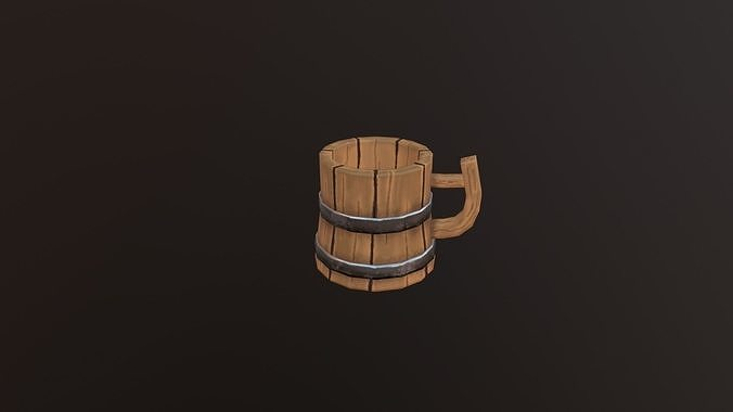 low poly Cup
