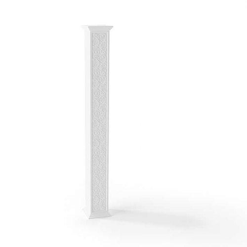 white tall decorative pillar 3d model obj 1