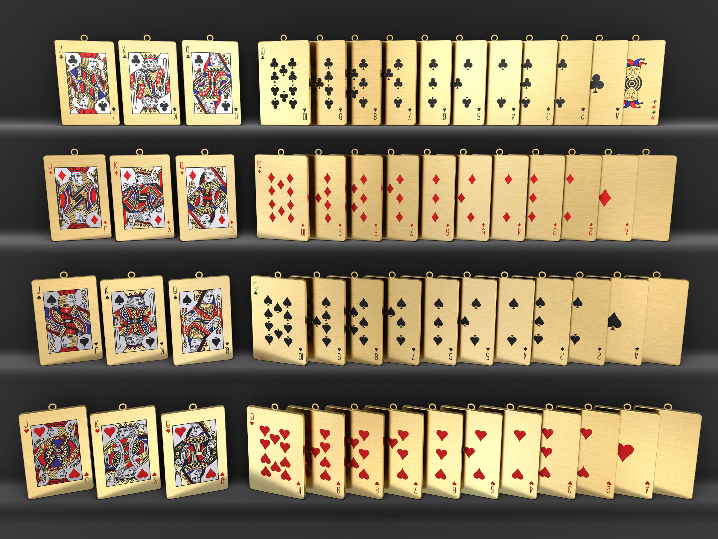 Playing Card Pendants Set