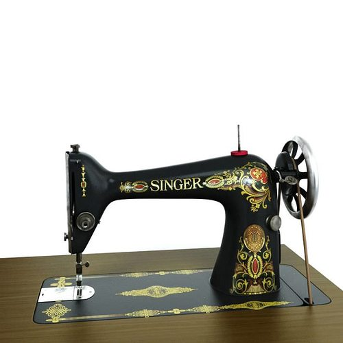 40D Singer Sewing Machine CGTrader Cool Singer Sew Machine