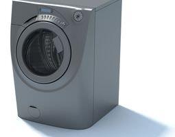 Grey Washing Machine 3D