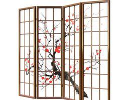 3D model Oriental Room Divider