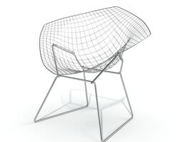grid patterned chair 3d model