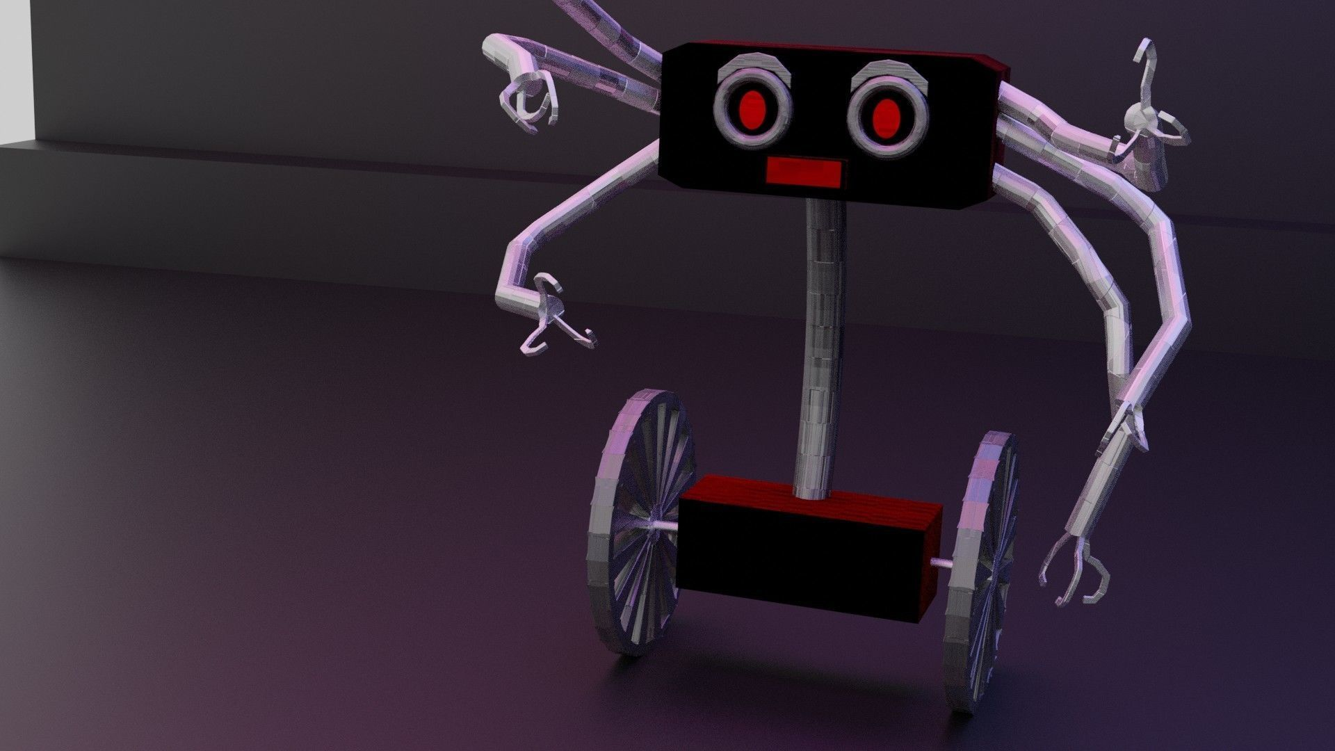 A sci-fi robot game-ready cartoon themed