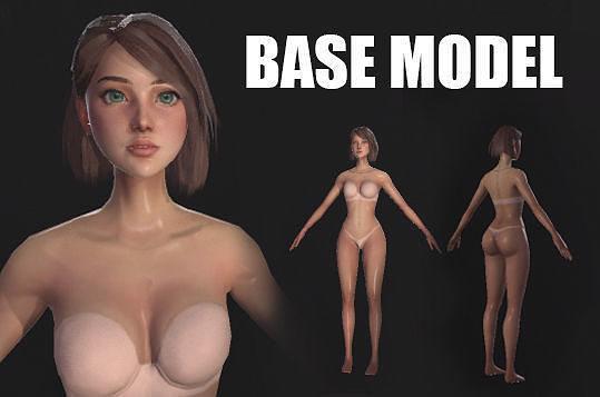 Female Base Model - Game-Ready Character
