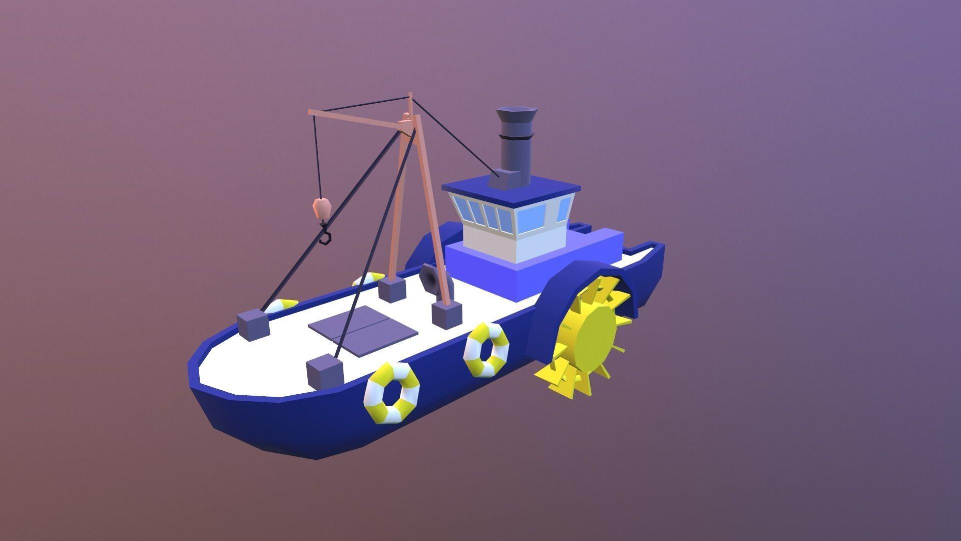 Low poly ship