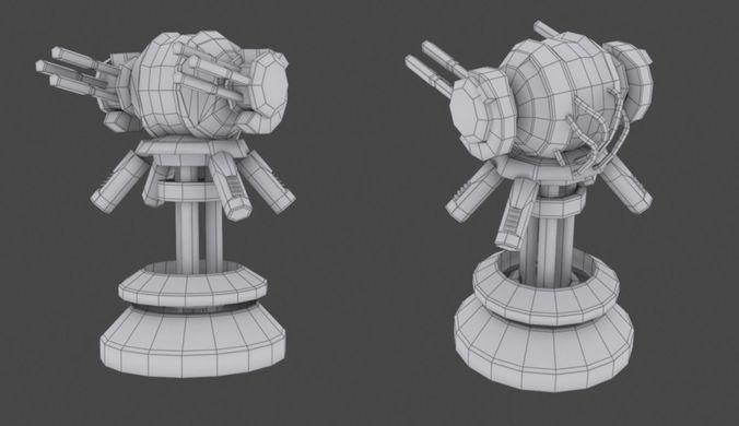 tower defense pack 3d model low-poly max obj fbx mtl tga 35