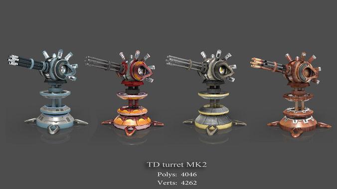 tower defense pack 3d model low-poly max obj fbx mtl tga 19