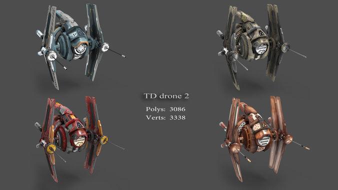 tower defense pack 3d model low-poly max obj fbx mtl tga 6