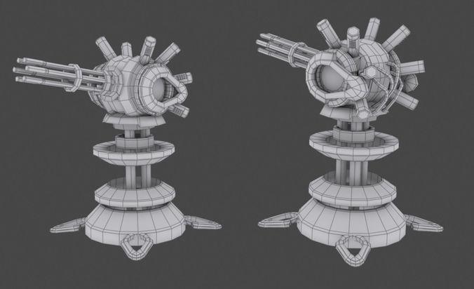 tower defense pack 3d model low-poly max obj fbx mtl tga 34