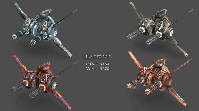 tower defense pack 3d model low-poly max obj fbx mtl tga 9