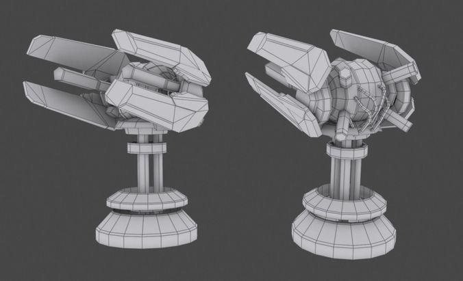 tower defense pack 3d model low-poly max obj fbx mtl tga 40