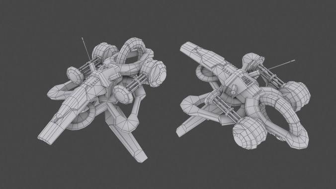 tower defense pack 3d model low-poly max obj fbx mtl tga 32