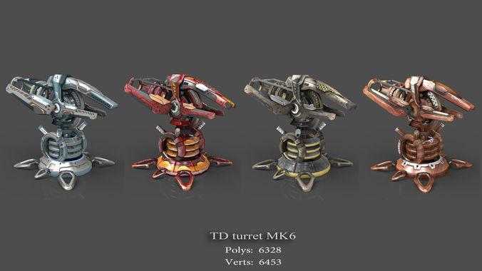 tower defense pack 3d model low-poly max obj fbx mtl tga 16